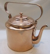 Чайник старинный из меди, на 6,5 л, «Товарищество Кольчугина» 19 век №4808