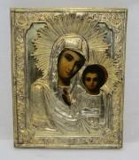 Икона старинная «Казанская Богоматерь» 19 век №4880