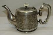 Чайник заварочный, кофейник старинный, цезалировка, Фраже, «Fraget» Варшава 19 век №4885