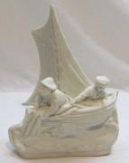 Скульптура «лодка», бисквит, 20 век №4712