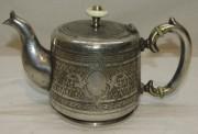 Чайник заварочный, кофейник старинный, цезалировка, «Norblin» Варшава 19 век №4926