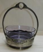 Конфетница старинная, вазочка «Br. Buch, WMF» начало 20 века №4960