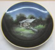 Тарелка старинная, панно, фарфор, «Кузнецов» 19 век №4933