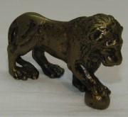 Фигурка старинная «Лев», бронза №5134