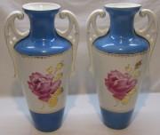 Старинные парные вазы, фарфор, большие, «Песочная» №5385