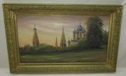 Картина «Церковь», масло, 1980-е годы №5497