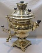 Самовар старинный угольный «ваза», томпак, на 3 л, «П. Гудкова» 19 век №1148