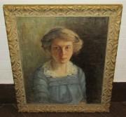 Картина старинная «Портрет», «Marta Rudeeck» Швеция 19 век №5324
