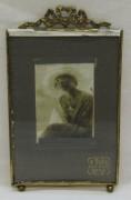 Фоторамка старинная, рамка для фото, бронза №5634