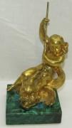 Статуэтка старинная, фигура, путти, бронза, позолота №5604