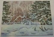 Картина, картинка «Зимний день» масло «Ю. Венецианов» №5469
