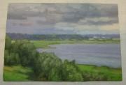 Картина, картинка «Озеро» масло «Ю. Венецианов» №5478