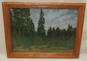 Картина, картинка «Сосновый лес» масло «Ю. Венецианов» 1978 год №5485