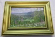 """Картина, картинка, пейзаж «Цветы. Лес» масло """"Ю. Венецианов"""" №5486"""