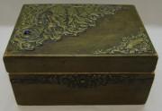 Шкатулка старинная с накладками, 19 век №6004