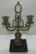 Подсвечник старинный, бронза, мрамор №6121