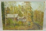Картина «Золотая осень», картон, масло №6147