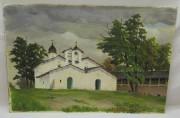Картина «Покров на Проломе» картон, масло №6148