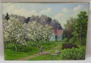 Картина «Лето» картон, масло, 1983 год №6149