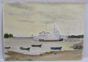 Картина «Кораблю, лодки» картон, масло 1970 год №6338