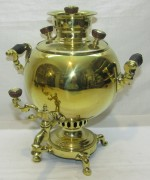 Самовар старинный «шар» эгоист на 1,5 л «Н.А. Воронцова» 19 век №1271