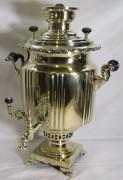 Самовар угольный старинный «фонарь», на 8,5 л, «Тулякова» №1273