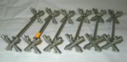 Подставки для ножей, приборов, серебрение, Norblin Варшава 19 век №134