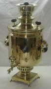 Самовар латунный, в форме банки, на 7 литров, Россия 19 век №410