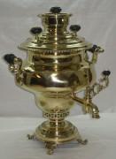 Самовар «ваза» гранный с медальонами, на 5 лиртов, Россия 19 век №395