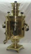 Самовар угольный, банка с медалями, на 9 литров, Бр. Шемариных №383