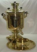 Самовар царский с медалями, на 8 литров, Б.Г. Тейле 19 век №381