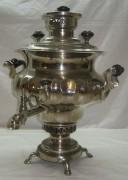 Самовар ваза, грань «пламенем», в никеле, на 4,5 литра, Бр. Шемариных №360
