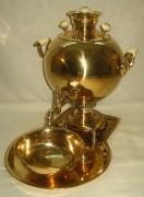 Самовар «шар», томпаковый, на 4,5 литра №157