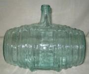 Старинная бутылка в форме бочонка на 3,1 литра 19 века №643