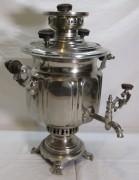 Самовар старинный угольный «фонарь», на 3 л, «Салищева» 19 век №1324
