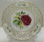 Тарелка старинная, панно «Роза», керамика, Россия 19 век? №7073