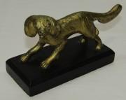Фигура старинная, статуэтка «собака», бронза, мрамор №7269