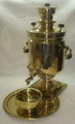 Самовар «банка» царский с медалями, на 8 литров, в наборе №430