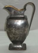 Кувшин медный на 1,5 литра, серебрение, «Пецъ» Россия, начало 19 века №1290