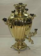 Самовар «яйцо» с гранями, на 3,5 литра, Бр. Шемариных №474