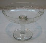 Конфетница в стиле модерн, вазочка из стекла, Мальцов №1440