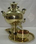 Самовар «шар» с набором Бр. Шемариных 19 века на 6 литров №391