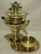 Самовар угольный «ваза» гранная, на 4 литра, «Н.А. Баташев» №518
