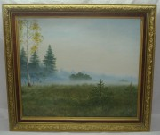 Картина «Туманное утро в лесу» Т.Ф. 1990 год №1117