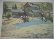 Картина «Зимний дом» №1645