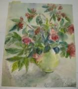 Картина «Ваза и венки бузины», Рахманина Н.С. 1990 год №1647