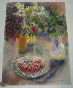 Картина «Натюрморт с брусникой» Рахманина Н.С. 1994 №1652