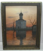 Картина «Церковь Покрова на Нерли» В. Камаев 1990 год №1125
