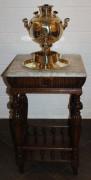 Стол, столик самоварный, старинная мраморная столешница №1714