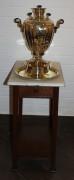 Столик самоварный, старинный, мрамор №1716